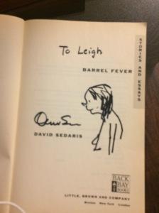 David Sedaris caricature